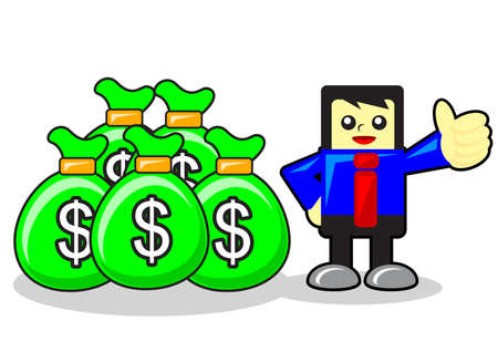 funny businessman Stock Vector - 12125738