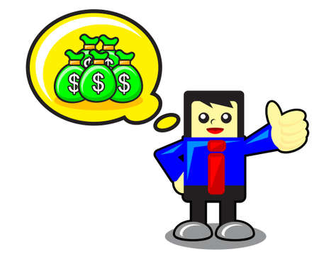 funny businessman Illustration