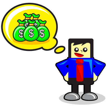 funny businessman Stock Vector - 12125736