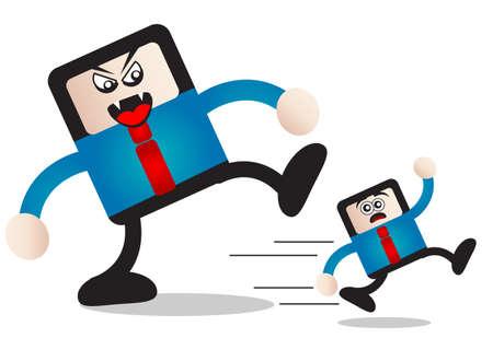 under pressure: businessman Illustration