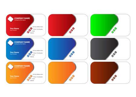 red and yellow card: tarjeta de visita Vectores