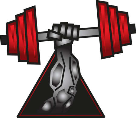 hand lifting weight: fitness Illustration