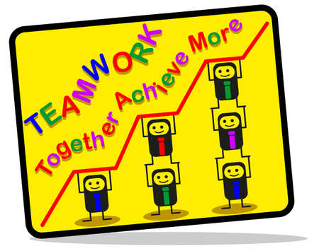 sales graph: Teamwork