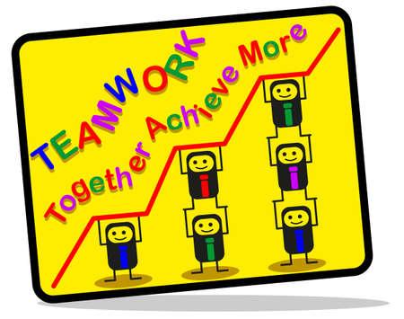 trabajo de equipo: Trabajo en equipo Vectores