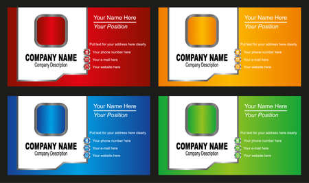 e business: business card template Illustration