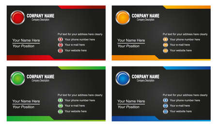 red and yellow card: tarjetas de visita
