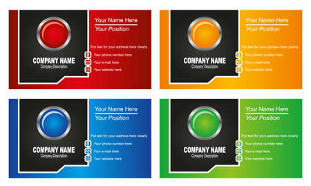 name calling: business card template Illustration