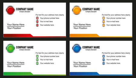 visiting card design: business card template Illustration