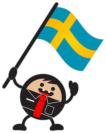cartoon flag Vector