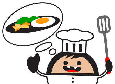 illustration of cartoon chef Vector