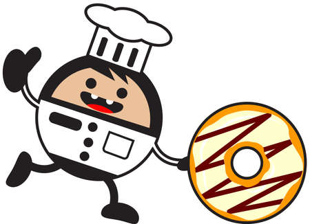 bring up: illustration of funny chef