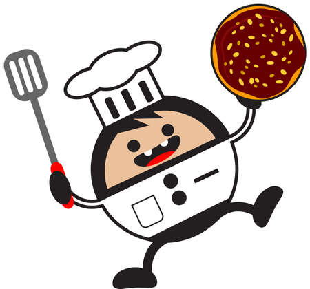 illustration of funny chef Stock Vector - 13083695