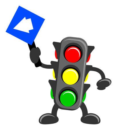 illustration of cartoon traffic light Vector