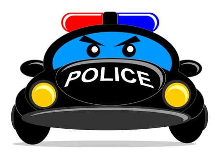 scheinwerfer: Cartoonpolizeiauto