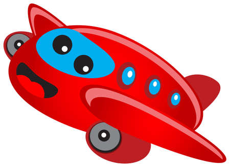 illustration of cartoon airplane Vector