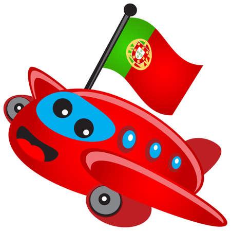 illustration of cartoon airplane Vector