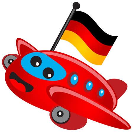 illustration of cartoon airplane Illustration