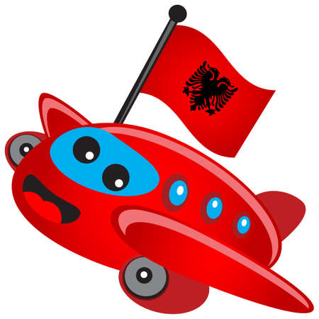 albanian: illustration of cartoon airplane Illustration