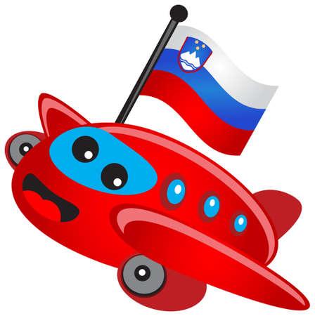 illustration of cartoon airplane Stock Vector - 13303308
