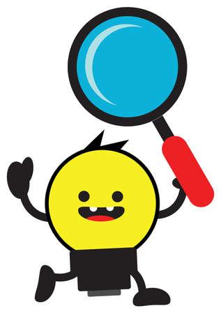 cartoon bulb lamp character Stock Vector - 13378104