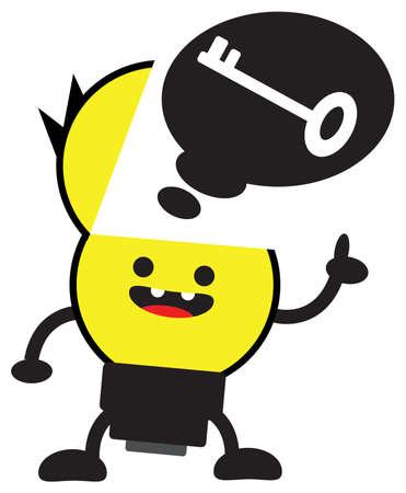 cartoon bulb lamp character Stock Vector - 13378109
