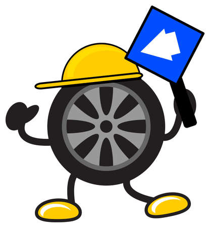 illustration of cartoon tire Vector