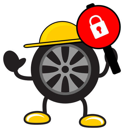 illustration of cartoon tire