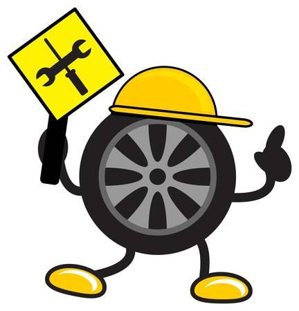 illustration of cartoon tire Stock Vector - 13620520