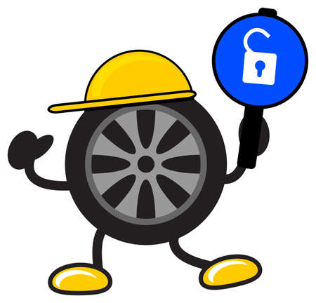 illustration of cartoon tire Stock Vector - 13620519