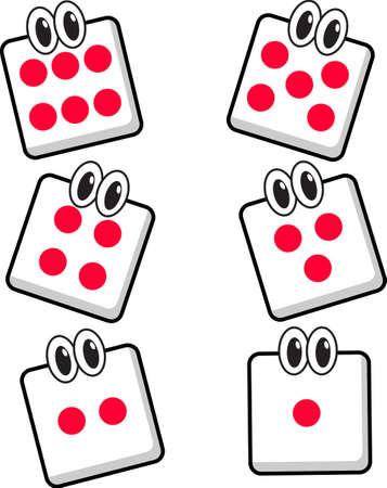 five objects: personaggio dei cartoni animati