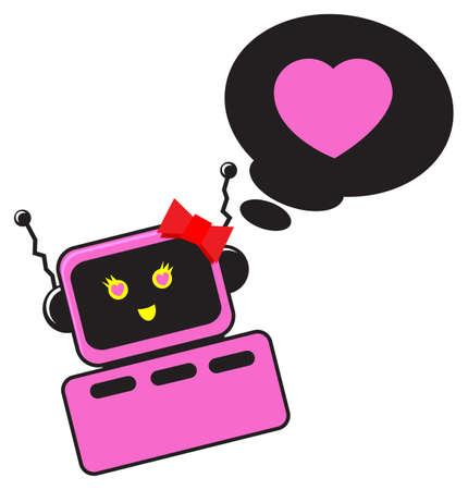 illustration of cartoon robot character Vector