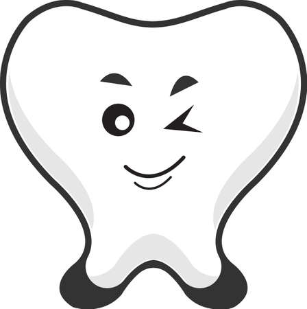 smily tooth Stock Vector - 14090440