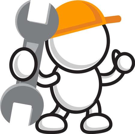 fijación y reparación Ilustración de vector