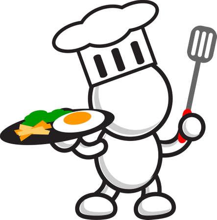egg yolk: illustration of restaurant business Illustration