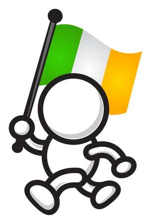 irish pride: country flag