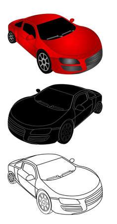 car showroom: Ilustraci�n del coche deportivo Vectores