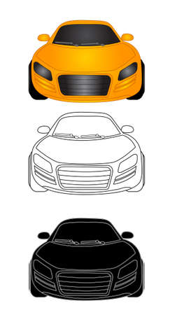 illustration of sporty car