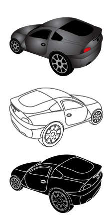 illustration of sporty car  Vector