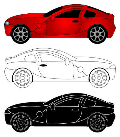 illustration of sporty car Stock Vector - 14536164