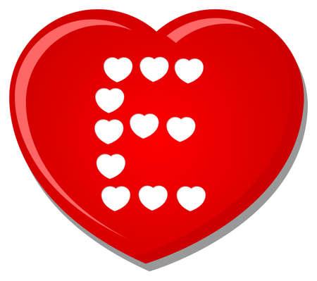 heart font type Stock Vector - 14785559