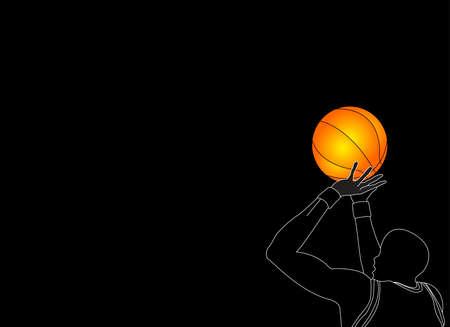 ball point: basket ball player