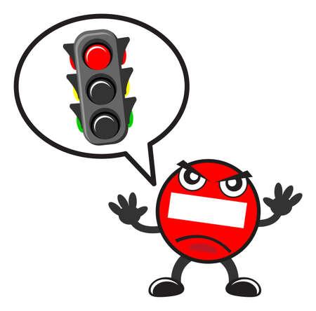 traffic sign Stock Vector - 15098495