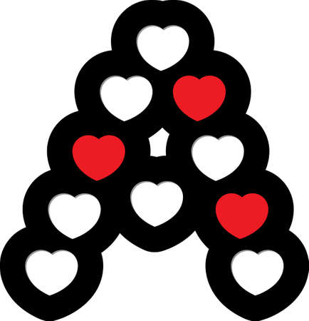 heart font type Vector