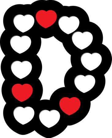 heart font type Stock Vector - 15098518