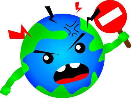 stop global warming Stock Vector - 16118950