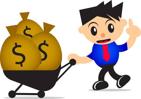 salarios: inversión Vectores