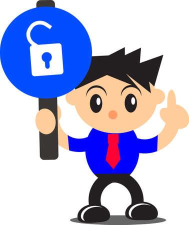 illustration of businessman activity Stock Vector - 16332250