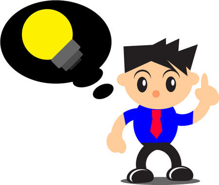 innovator: illustration of businessman activity