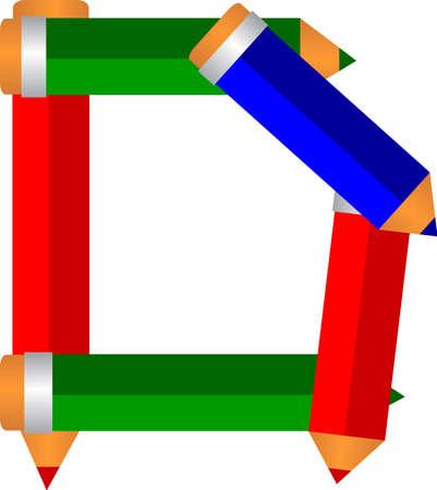 illusration font type pencil shape Illustration