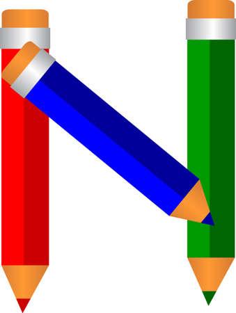 font type pencil shape Vector